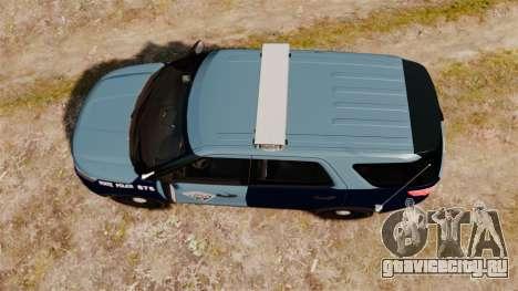 Ford Explorer 2013 MSP [ELS] для GTA 4 вид справа