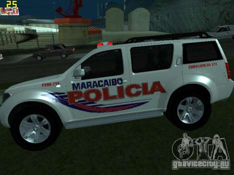 Nissan Pathfinder Polimaracaibo для GTA San Andreas вид слева