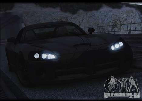 Dodge Viper SRT-10 для GTA San Andreas вид сверху