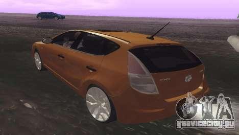 Hyundai i30 для GTA San Andreas вид справа