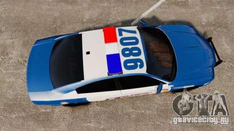 Dodge Charger 2013 Liberty County Police [ELS] для GTA 4 вид справа