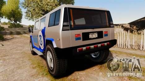 Patriot Police v2.0 для GTA 4 вид сзади слева