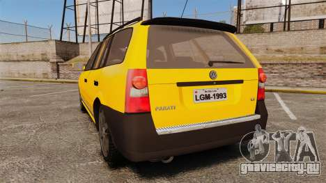 Volkswagen Parati G4 Track and Field 2013 для GTA 4 вид сзади слева