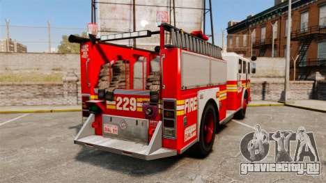 Fire Truck v1.4A FDLC [ELS] для GTA 4 вид сзади слева