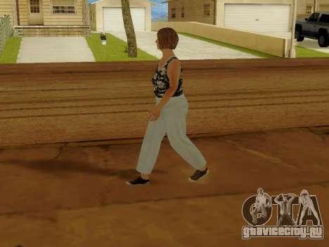 Пожилая женщина v.2 для GTA San Andreas пятый скриншот
