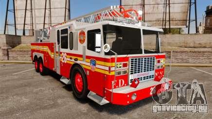 Ferrara 100 Aerial Ladder FDNY [working ladder] для GTA 4