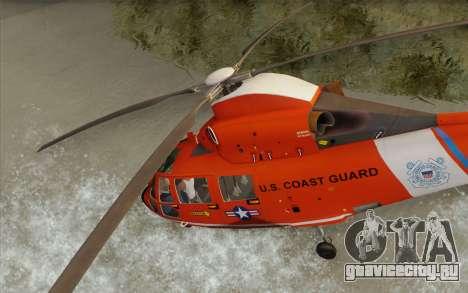 AS 365N Dauphin для GTA San Andreas вид сзади