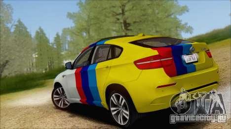BMW X6M E71 2013 300M Wheels для GTA San Andreas вид снизу