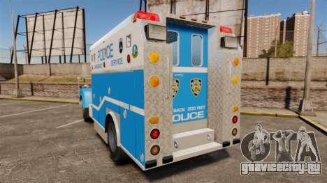 Mack R Bronx 1993 NYPD Emergency Service [ELS] для GTA 4 вид сзади слева