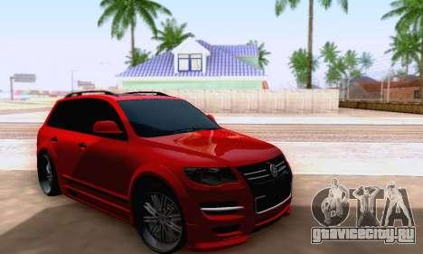 Volkswagen Touareg Mansory для GTA San Andreas вид справа