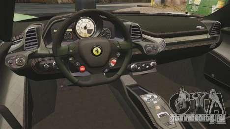 Ferrari 458 Spider Speciale для GTA 4 вид сзади