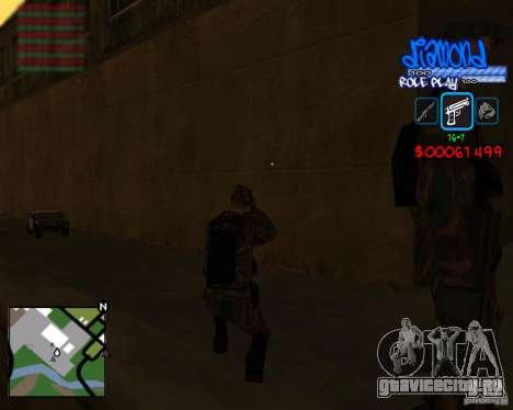 C-Hud Diamond RP для GTA San Andreas четвёртый скриншот