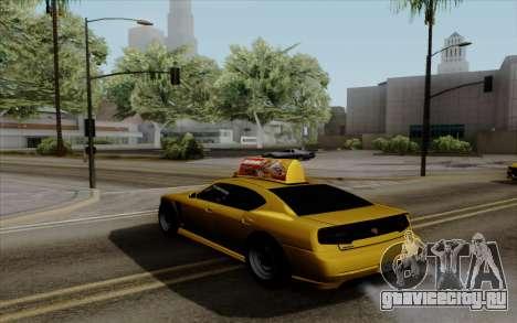 Buffalo Taxi для GTA San Andreas вид слева