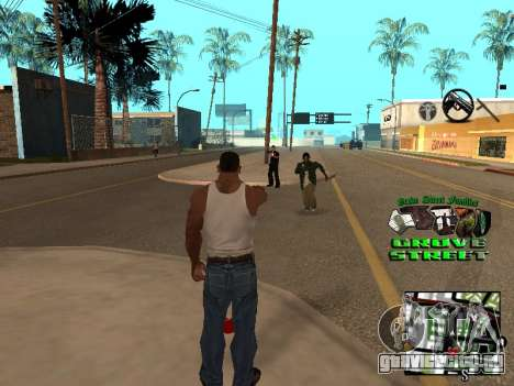 С-HUD Grove Street для GTA San Andreas второй скриншот