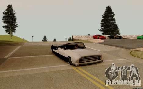 Oceanic Кабриолет для GTA San Andreas вид изнутри