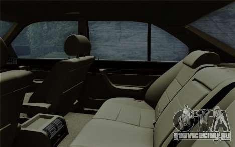 BMW 540i (E34) для GTA San Andreas вид снизу