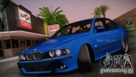 BMW E39 M5 2003 для GTA San Andreas вид сзади слева