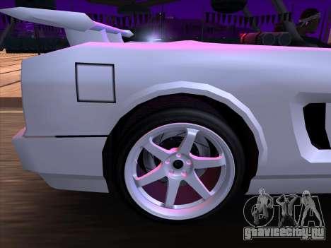 New Infernus для GTA San Andreas вид изнутри