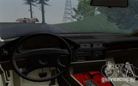 BMW 540i (E34) для GTA San Andreas вид сверху