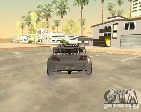Mazda RX 8 из NFS Most Wanted для GTA San Andreas вид сзади слева