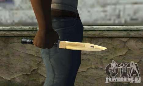 Golden Knife для GTA San Andreas третий скриншот