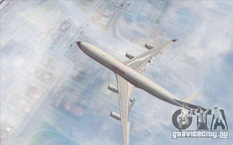 Airbus A340-300 China Eastern для GTA San Andreas вид сзади слева