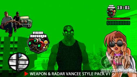 Оружие и радар VanCee Style Pack v1 для GTA San Andreas двенадцатый скриншот