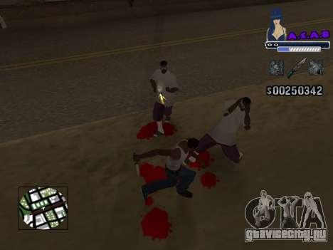 C-HUD new A.C.A.B для GTA San Andreas второй скриншот