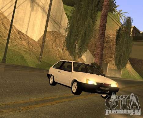 ВАЗ 2108 GVR Version 2.0 для GTA San Andreas вид сзади слева
