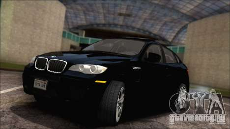 BMW X6M E71 2013 300M Wheels для GTA San Andreas вид изнутри