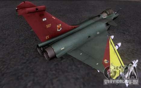 Dassault Rafale M для GTA San Andreas вид изнутри