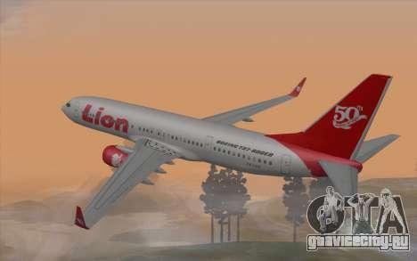 Lion Air Boeing 737 - 900ER для GTA San Andreas вид слева