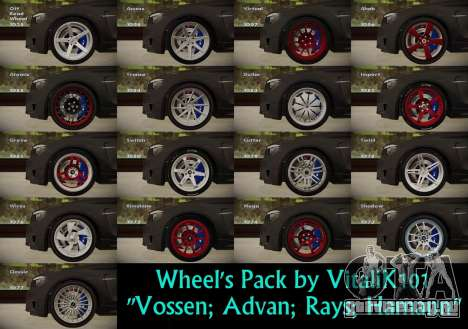Wheels Pack by VitaliK101 для GTA San Andreas