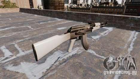 Автомат АК-47 Chrome для GTA 4 второй скриншот