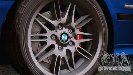 BMW E39 M5 2003 для GTA San Andreas вид изнутри