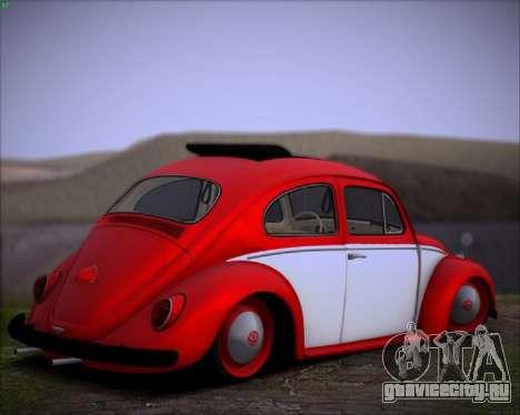 Volkswagen Beetle Stance для GTA San Andreas вид сзади слева