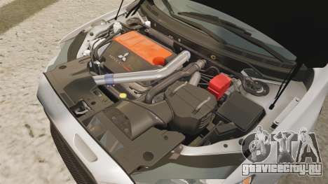 Mitsubishi Lancer Evolution X FQ400 для GTA 4 вид изнутри