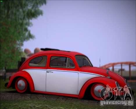 Volkswagen Beetle Stance для GTA San Andreas вид слева