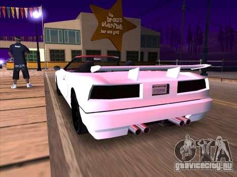 New Infernus для GTA San Andreas вид сзади