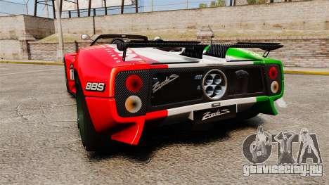 Pagani Zonda C12 S Roadster 2001 PJ6 для GTA 4 вид сзади слева