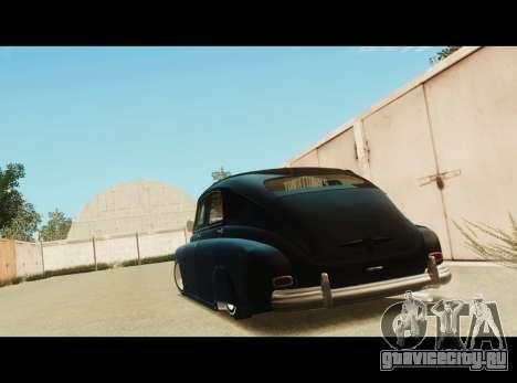 Газ М20 La Bomba для GTA San Andreas вид сзади слева