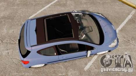 Peugeot 207 RC для GTA 4 вид справа