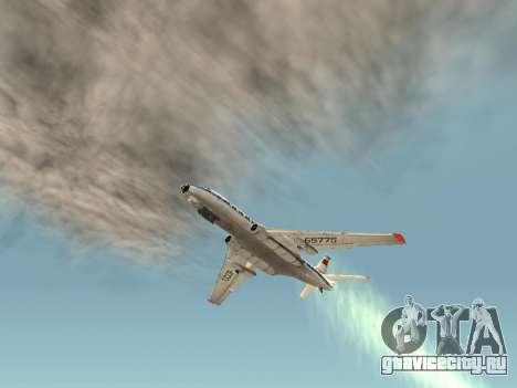 Ту-104А для GTA San Andreas вид сзади