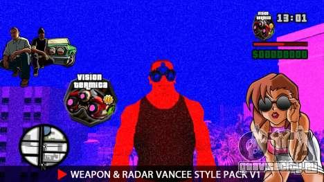 Оружие и радар VanCee Style Pack v1 для GTA San Andreas одинадцатый скриншот