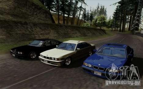 BMW 540i (E34) для GTA San Andreas вид изнутри