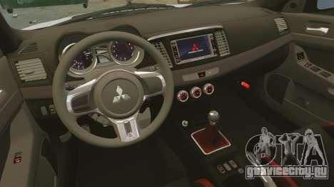 Mitsubishi Lancer Evolution X FQ400 для GTA 4 вид сверху