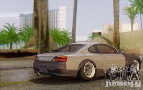 Nissan Silvia S15 Fail Camber для GTA San Andreas вид сзади слева
