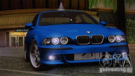 BMW E39 M5 2003 для GTA San Andreas вид сверху