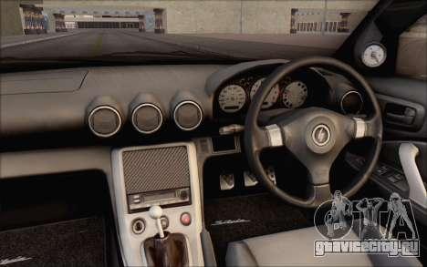 Nissan Silvia S15 Fail Camber для GTA San Andreas вид изнутри