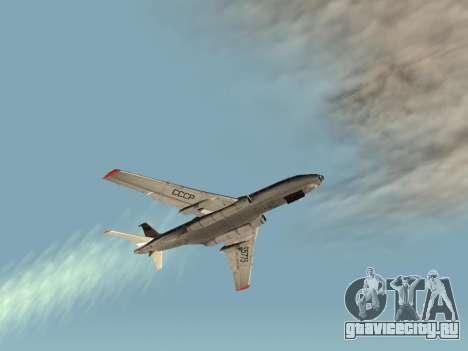 Ту-104А для GTA San Andreas вид справа